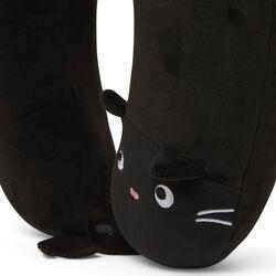 Cuscino da viaggio con maschera per dormire - Gatto nero, , large
