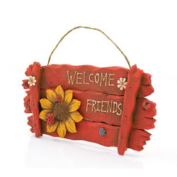 Insegna in legno - Welcome friends, , large