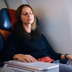 Cuscino gonfiabile da viaggio per il collo colore nero, nero, large