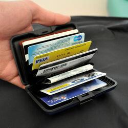 Custodie proteggi carte/banconote color argento, , large