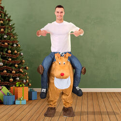 Costume natalizio spiritoso - Renna, , large