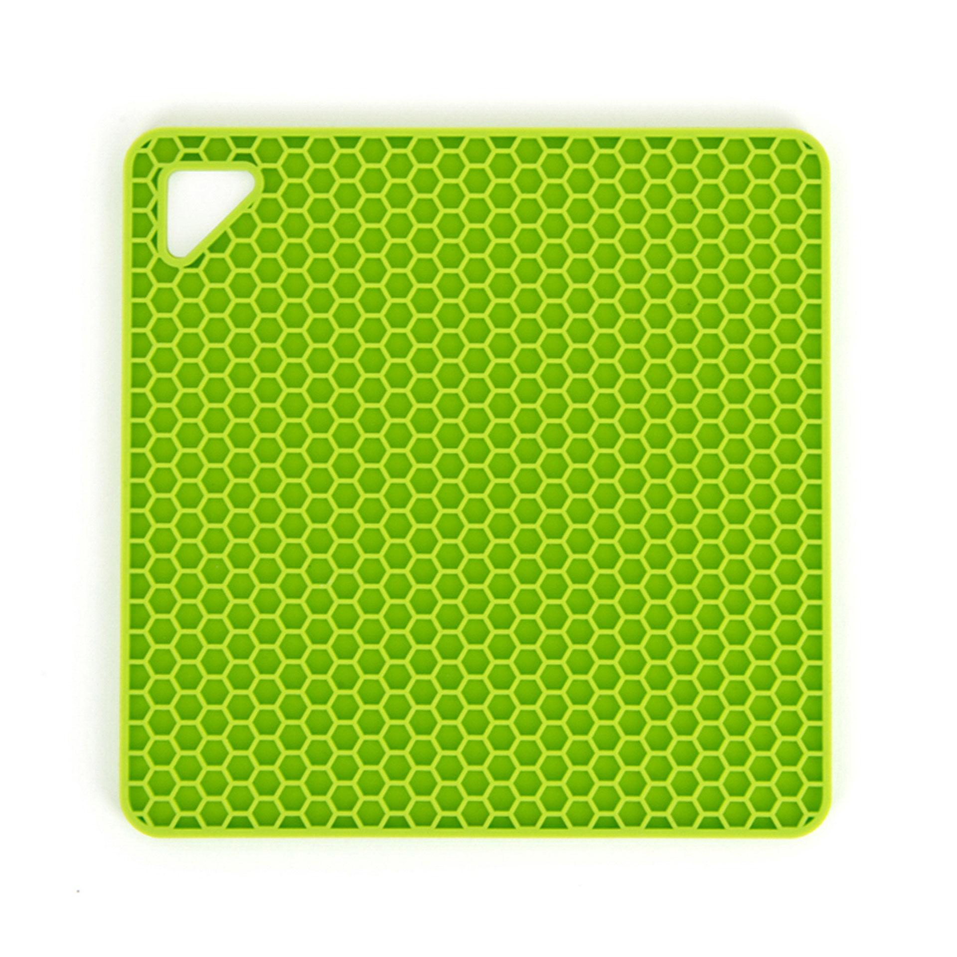 Dessous de plat manique en silicone de forme carrée, , large