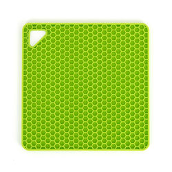 Sottopentola presina in silicone verde, , large
