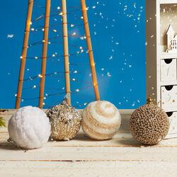Palline in stoffa per albero di Natale, set da 4 pz, , large