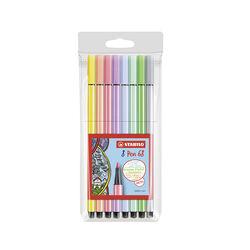 Stabilo Pen set da 8 pennarelli in colore pastello, , large
