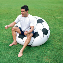 Poltrona gonfiabile Goal a forma di pallone, , large