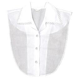 Collarino per camicia con bordo in pizzo, , large