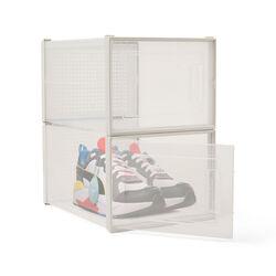 Scatole impilabili per scarpe sneakers - Set da 2 pz, , large
