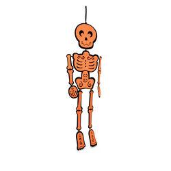 Scheletro Halloween da appendere, , large