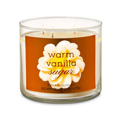 Warm Vanilla Sugar Candela profumata decorativa 3 stoppini con oli essenziali, , large