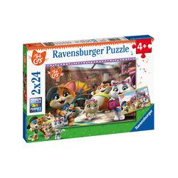 Ravensburger Puzzle 2x24 pezzi 05012 - 44 Gatti, , large