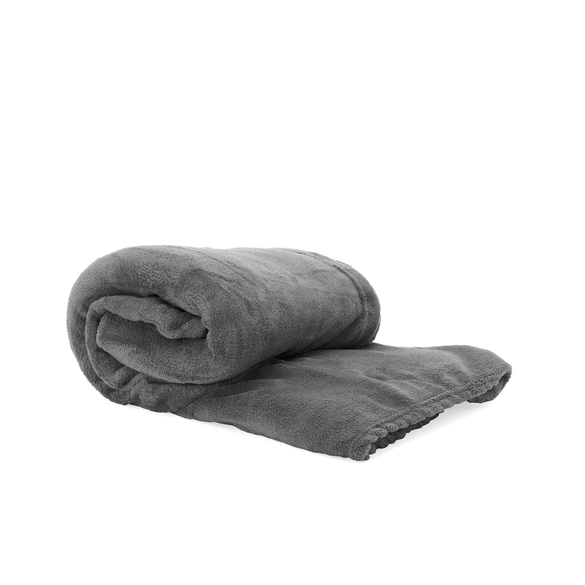 Couverture à manches - grise, gris, large