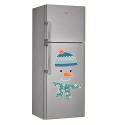 Decorazione magnetica per frigorifero maxi pupazzo di neve, , large