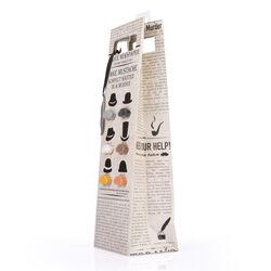 Sacchetto portavino con segnabicchieri a forma di baffi, , large