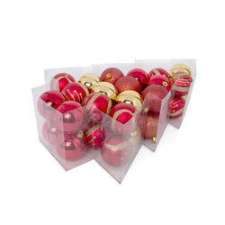 Box con 34 palline decorate per albero di Natale, , large