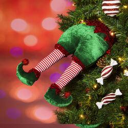 Elfo decorativo per albero di Natale 40 cm, , large