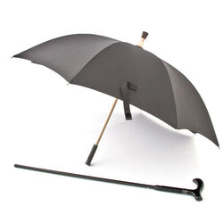 Bastone che diventa ombrello: 2 in 1, , large