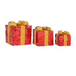 Coni luminosi a batterie - Set da 3 pz, colore rosso, rosso, large