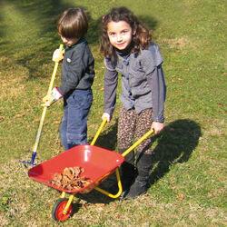 Carriola in Acciaio verniciato per bambini, , large