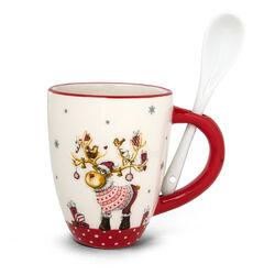 Tazza natalizia con cucchiaio, , large