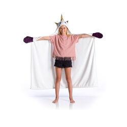 Mantella plaid da indossare per bambini, , large