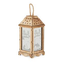 Lanterna decorativa luminosa in legno, , large