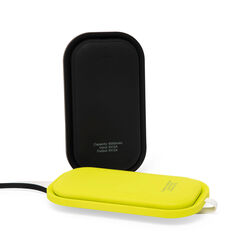 Power bank 5000 mAh con supporto wireless e tecnologia Qi, giallo, giallo, large