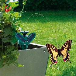 Farfalla svolazzante con pannello solare, , large