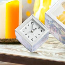 Cubo portafoto con orologio, , large