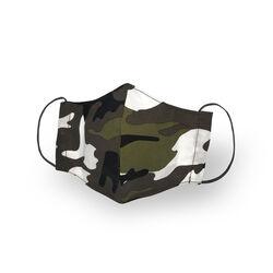 Mascherina facciale in cotone lavabile riutilizzabile set da 2 pz,camoscio pois, , large