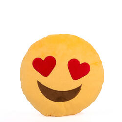Cuscino emoticon occhi a cuore, , large