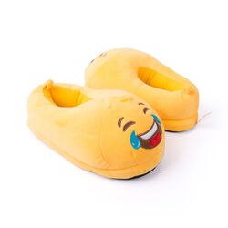 Pantofole emoticon risata con lacrime, , large