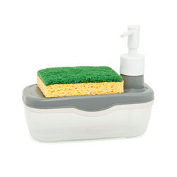 Dispenser sapone con porta spugna, , large