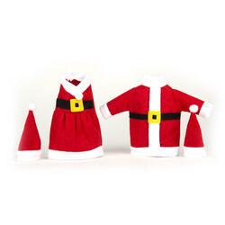 Set 2 vestiti natalizi per bottiglia, , large