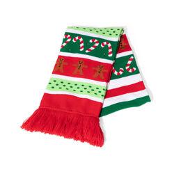 Sciarpa natalizia con luci LED, omino marzapane, , large