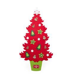 Albero di Natale in feltro da appendere 92 cm - rosso, rosso, large