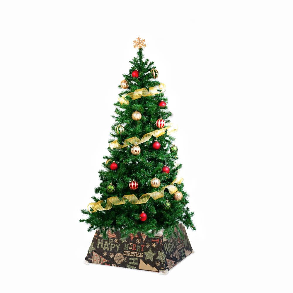 Cache-pied pour sapin de Noël 53 cm - Happy Xmas, , large