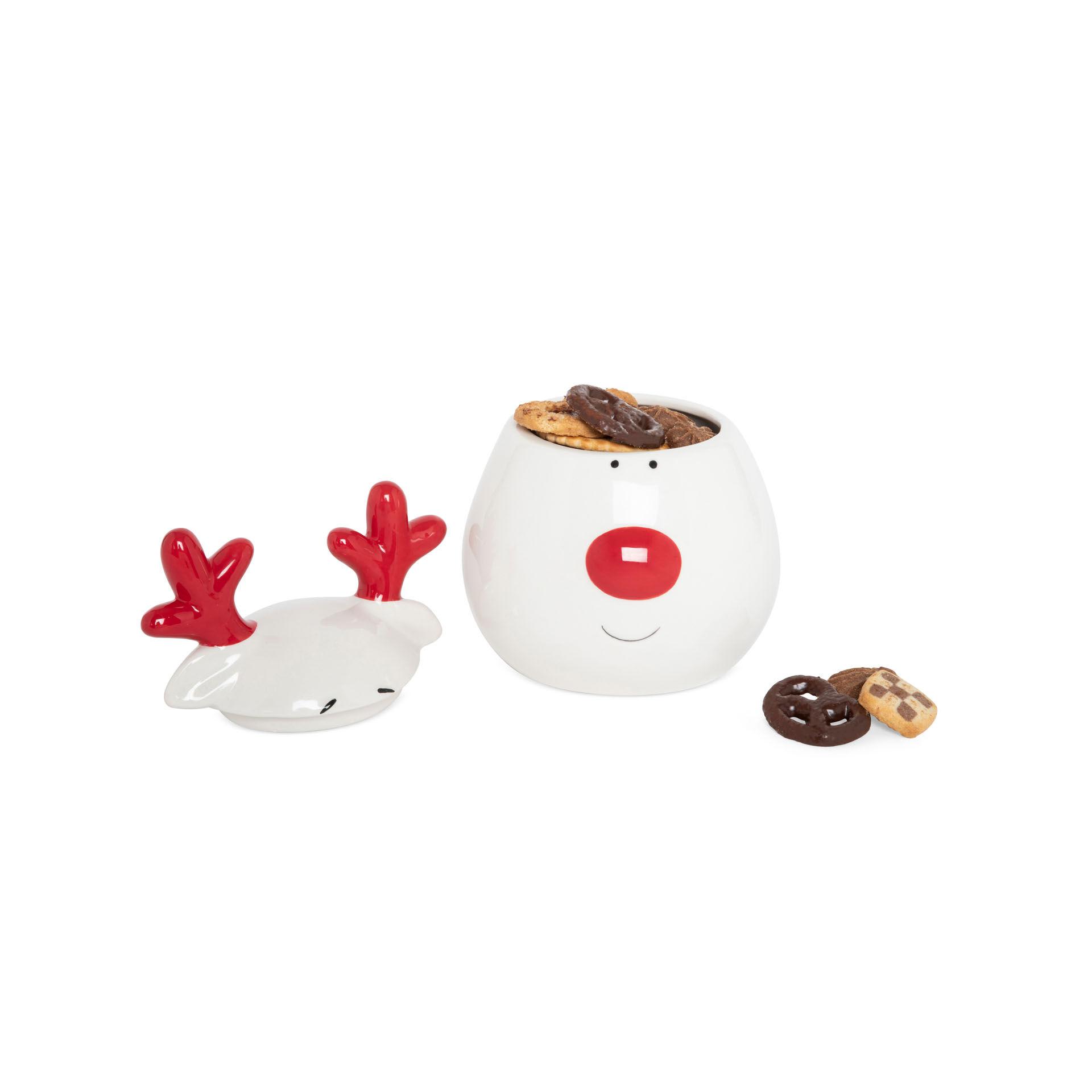 Boîte à biscuits en céramique renne, , large