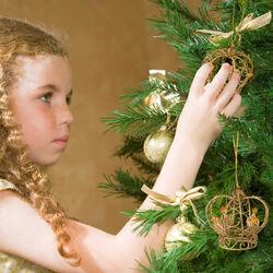 Set 3 corone decora albero di Natale, , large