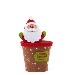 Portavaso natalizio in feltro, Babbo Natale, , large