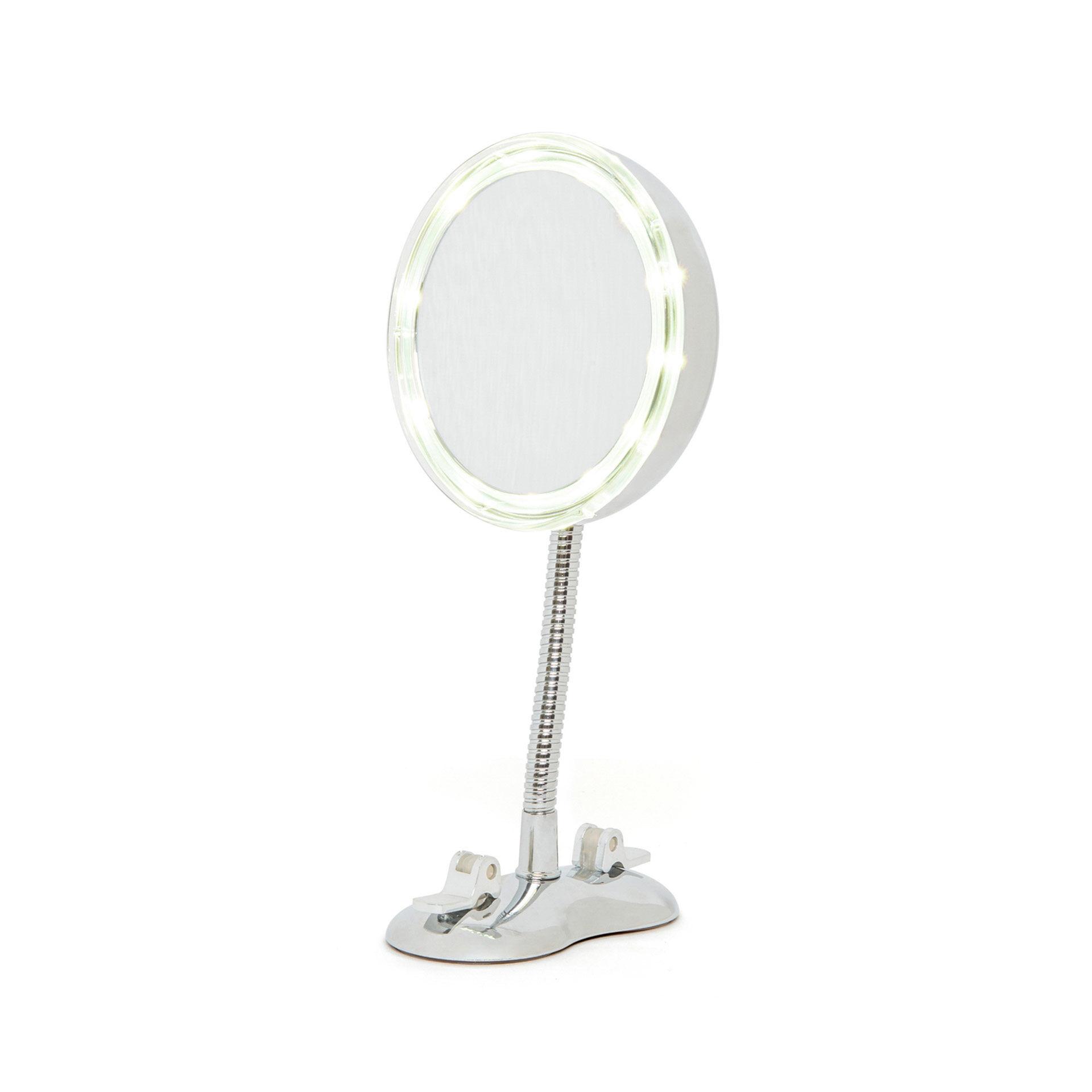 Miroir magnétique 5X avec lumière et ventouses, , large