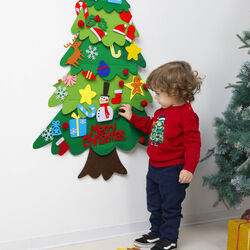 Albero di Natale da appendere fai da te per bambini, , large