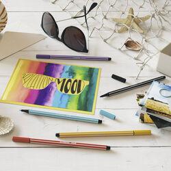 STABILO Pen 68 Colorparade - Astuccio Desk-Set da 20 antracite/azzurro, , large