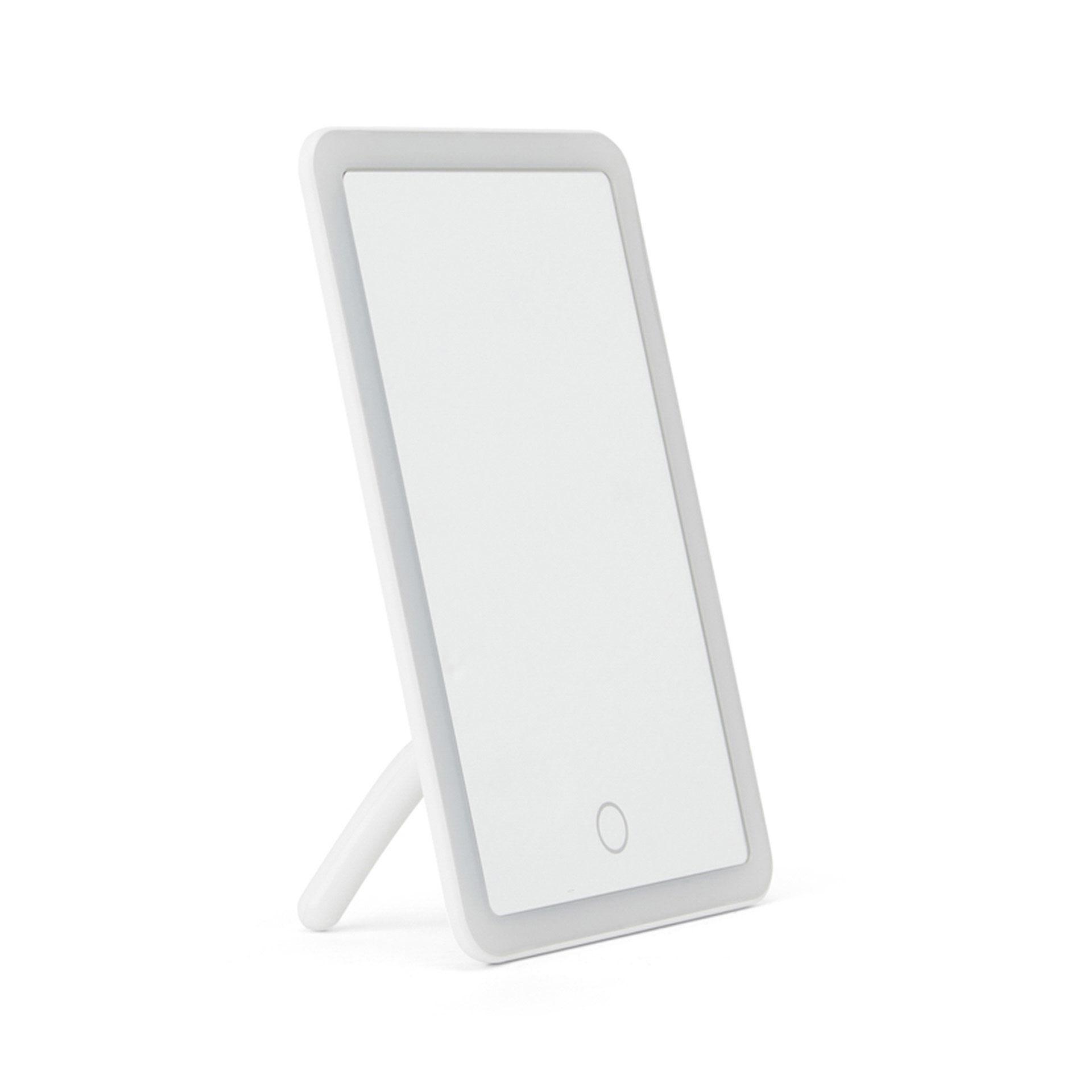 Miroir avec cadre lumineux LED - Rectangulaire, , large