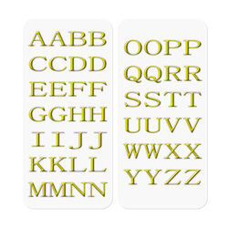 3D STICKERS LETTERS GOLD, , large