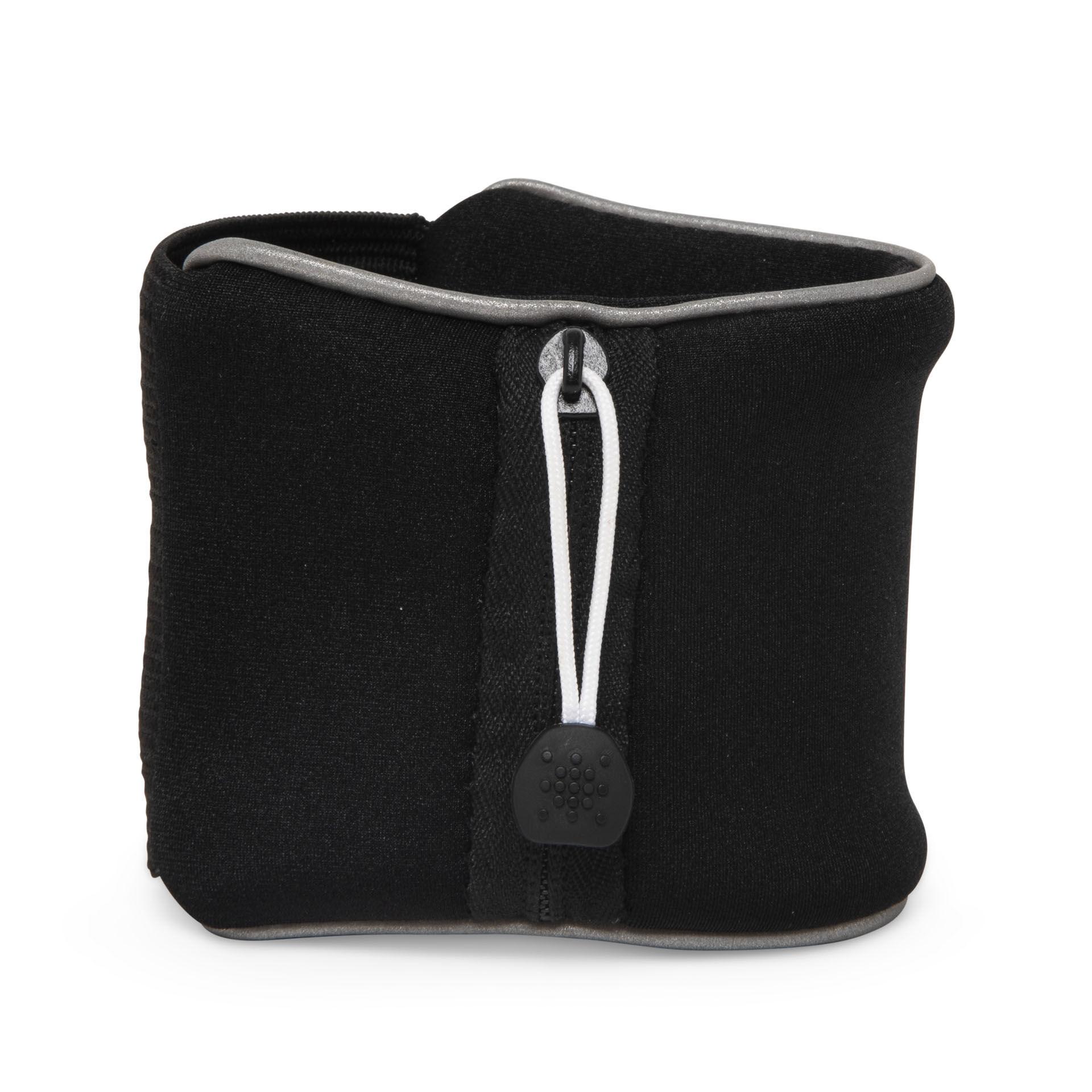 Bracelet éponge avec poche, noir, large