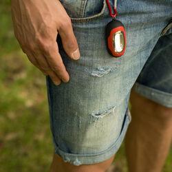 Torcia cob portatile a batterie con moschettone, , large