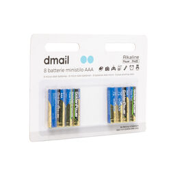 Batterie ministilo AAA, set da 8 pz, , large