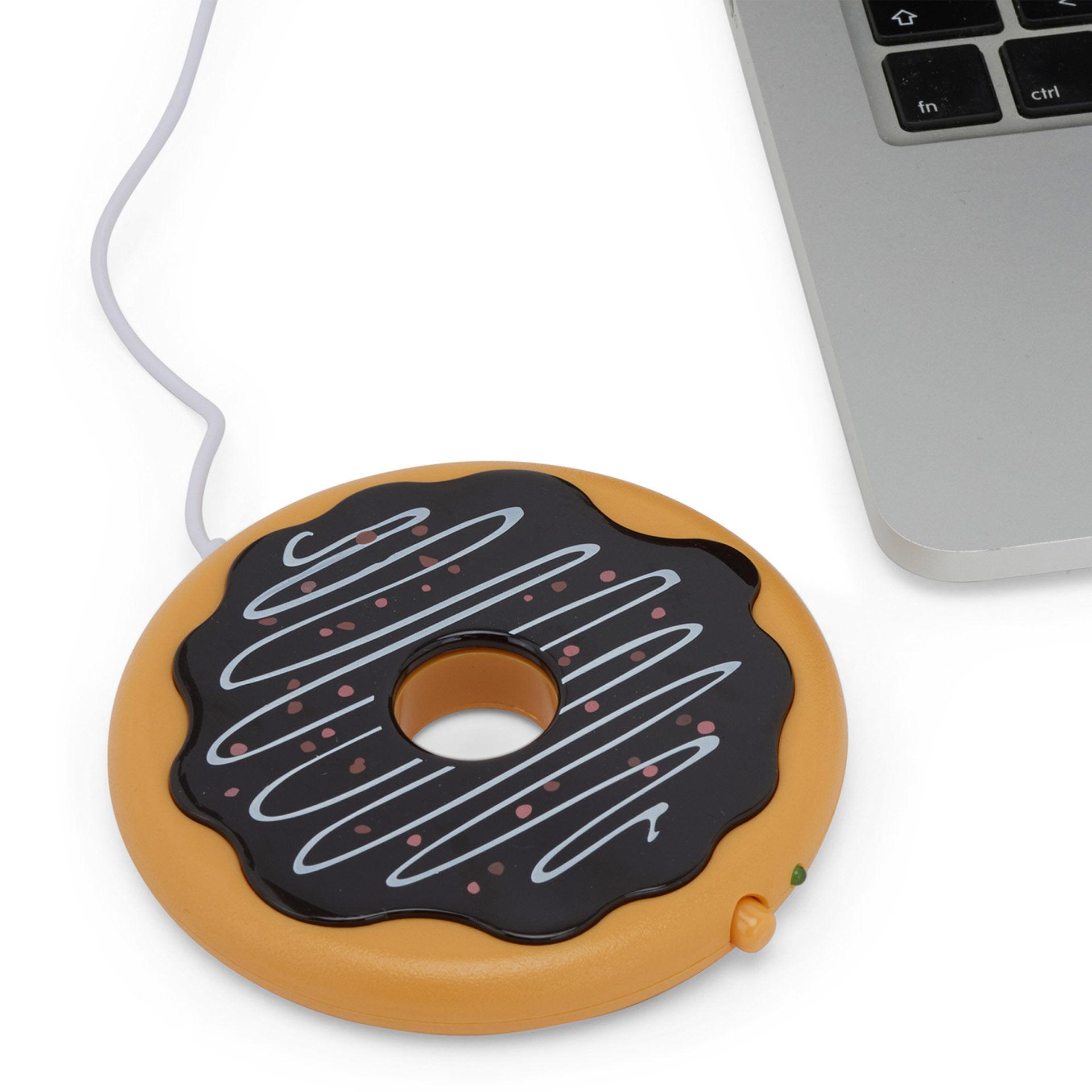 Chauffe-tasse USB beignet - marron, , large