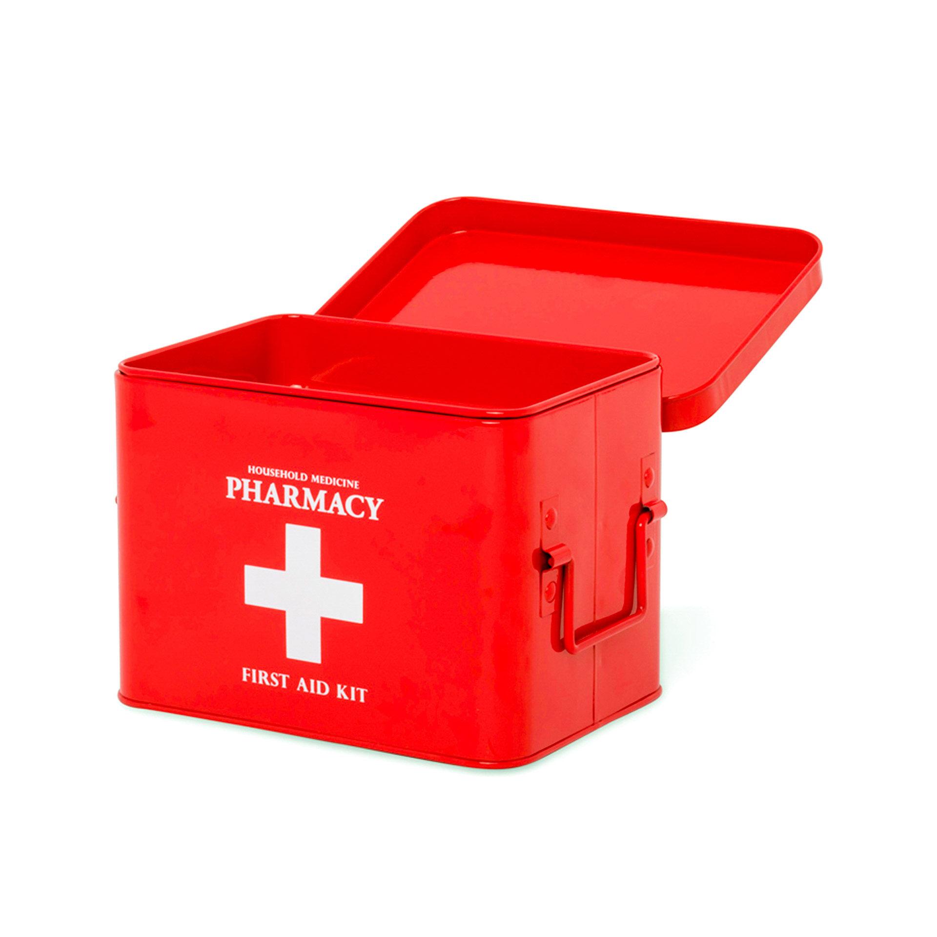 Boîte en métal pour médicaments - Petite, , large
